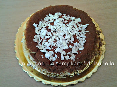 cheesecake  al tiramisu'  cotta in  forno !!!