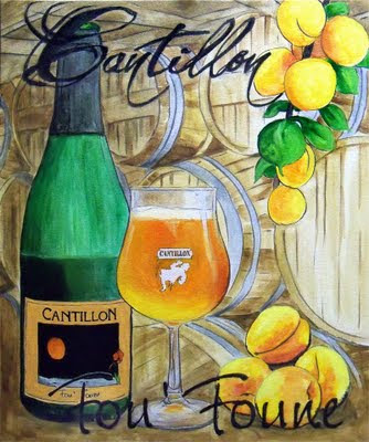 Cantillon fou foune beer painting