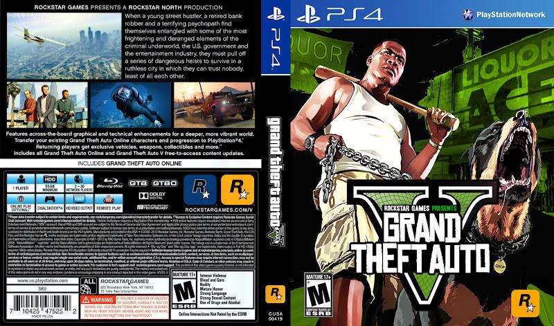Capa Grant Theft Auto V PS4