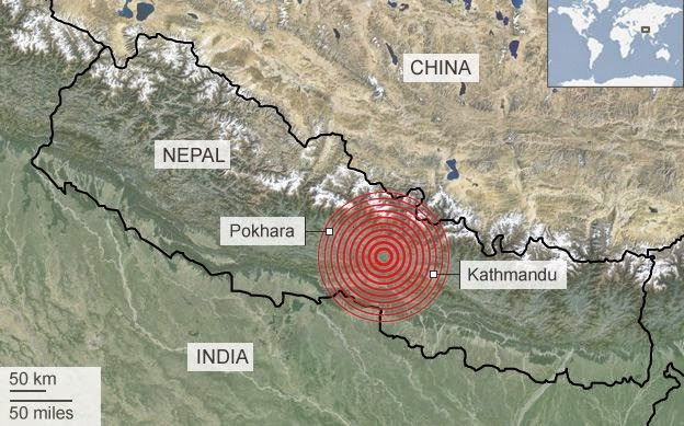 Nepal Earthquake 2015 triggers landslide in sikkim
