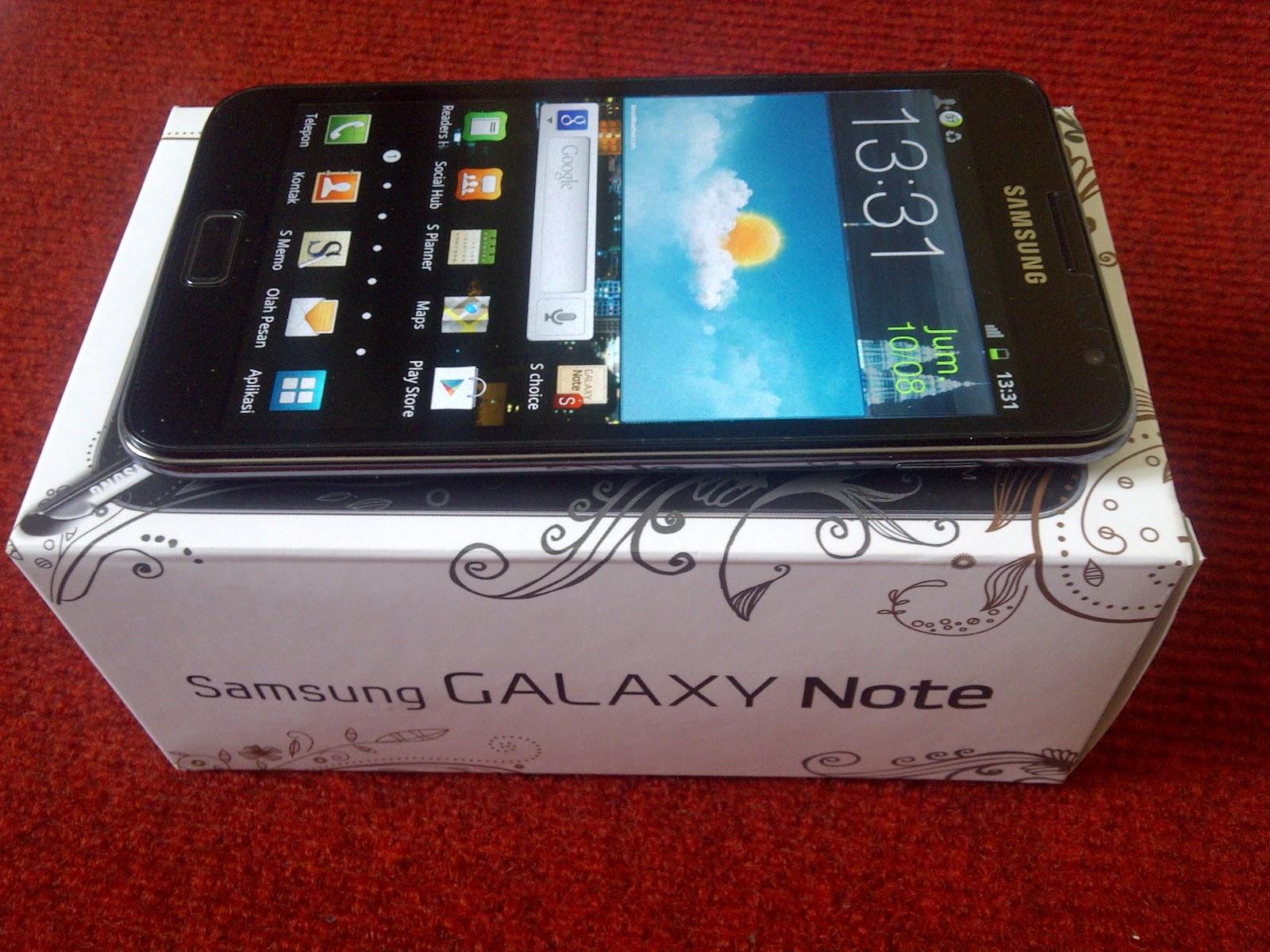 JUAL: Samsung Galaxy Note N7000 Fullpack - Black