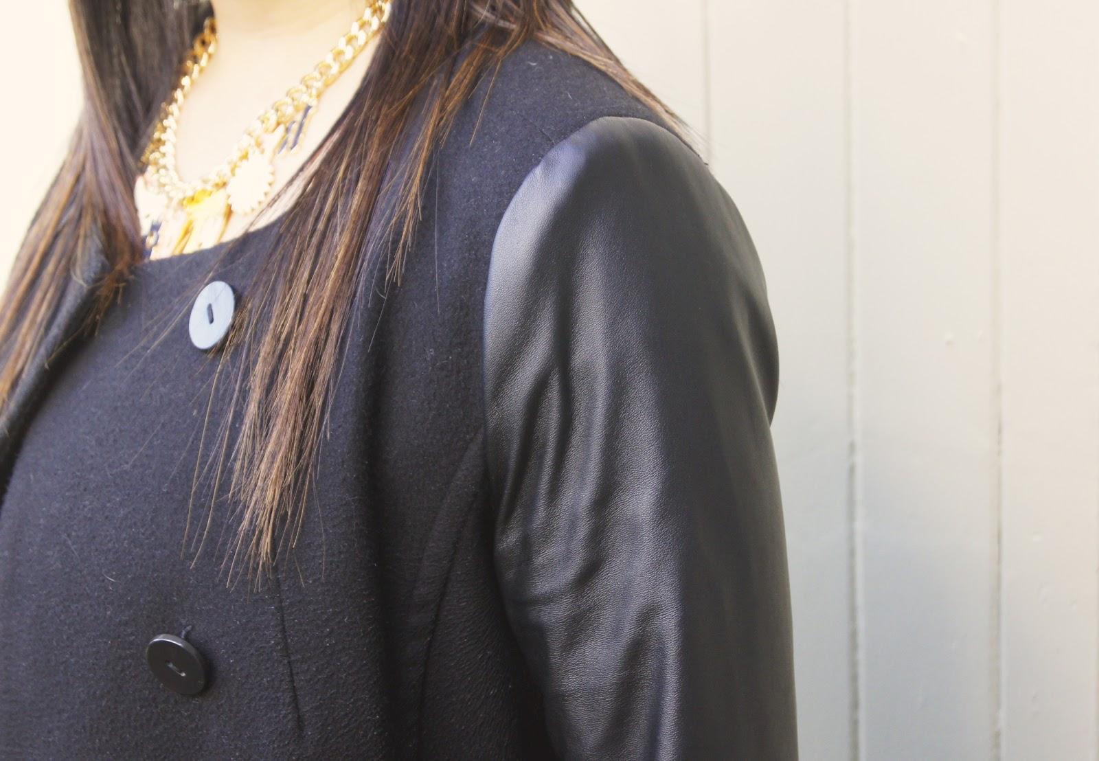 Portman coat, karen walker, necklace, hair ombre