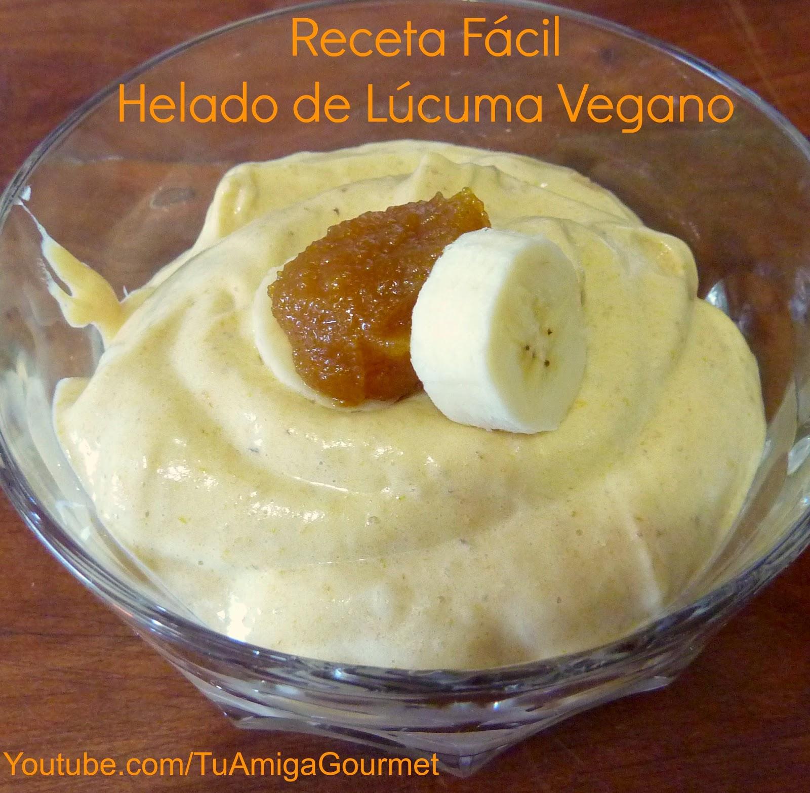 Helado de Lucuma vegano