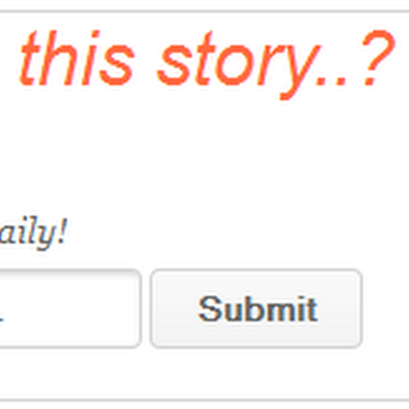 Do You Like This Story/Article Widget For Blogger