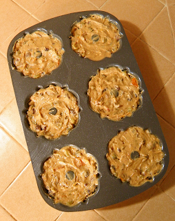 Bundtlette Pan Filled with Muffin Batter