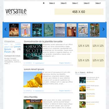 Versatile blogger template. blogspot template with image slider