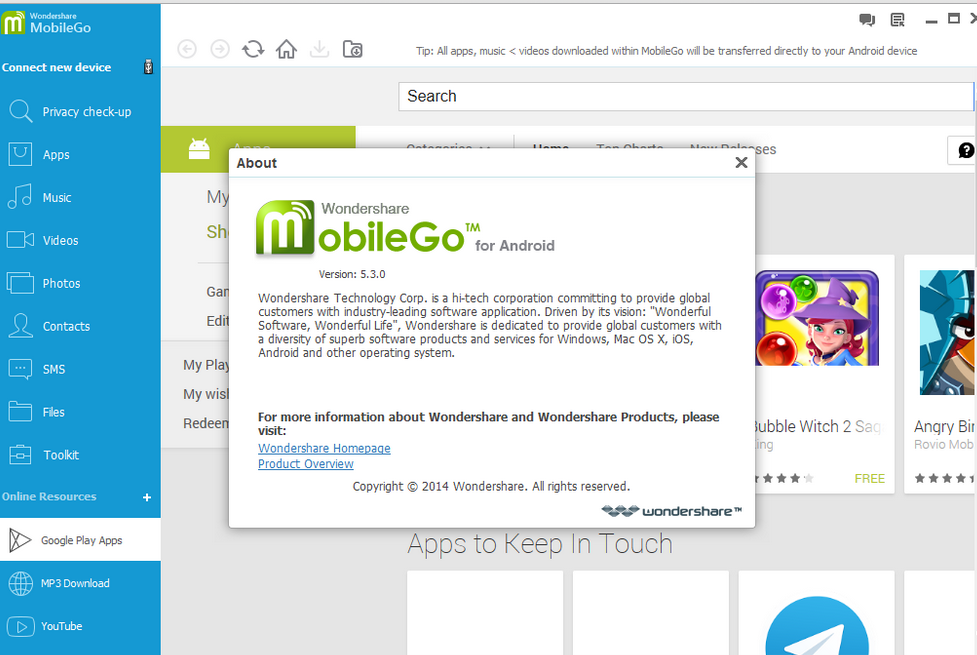 Wondershare MobileGo for Android 5.3.1.291 + Patch ...