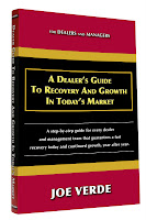 car sales training book from Joe Verde