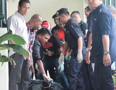 Gambar lima gangster berbahaya ditembak mati polis di Sungai Nibong Pulau Pinang