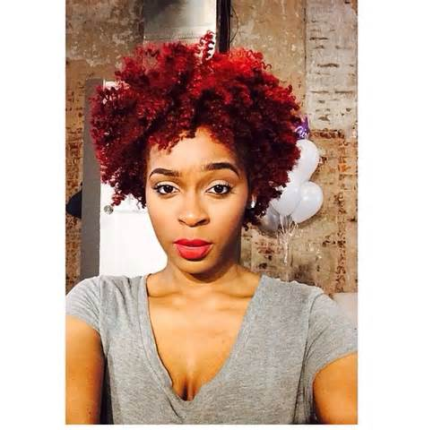 Natural Hair Dyed Red Color 2016 | Health and Beauty
