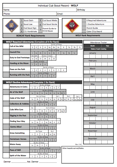 Cub Scouts Belt Loops Worksheet Worksheets for all | Download and ...