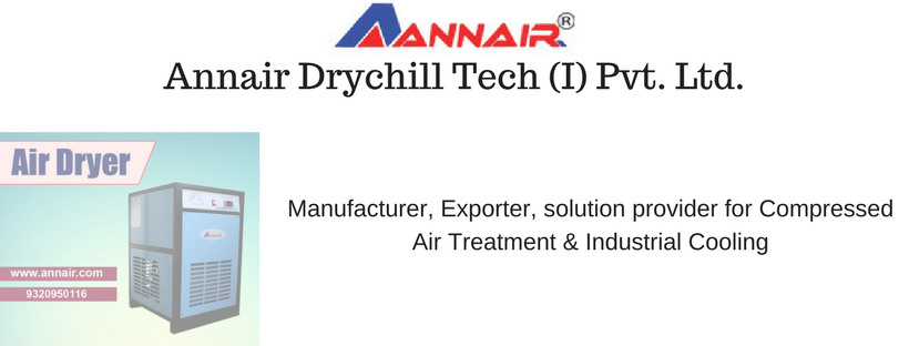 Manufacturer, Exporter, solution provider for Compressed Air Treatment & Industrial Cooling