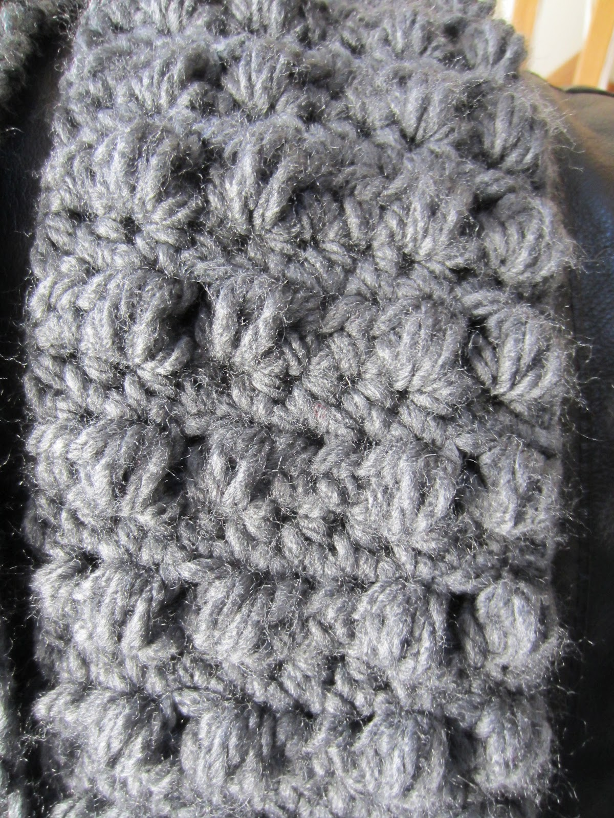 Olenas Crafts: Amazing Double Bobble Scarf Pattern - Free ...