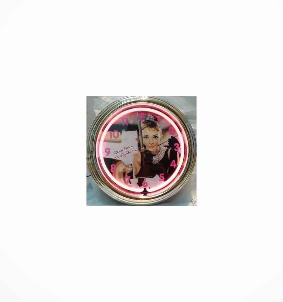 Reloj neón Audrey Hepburn