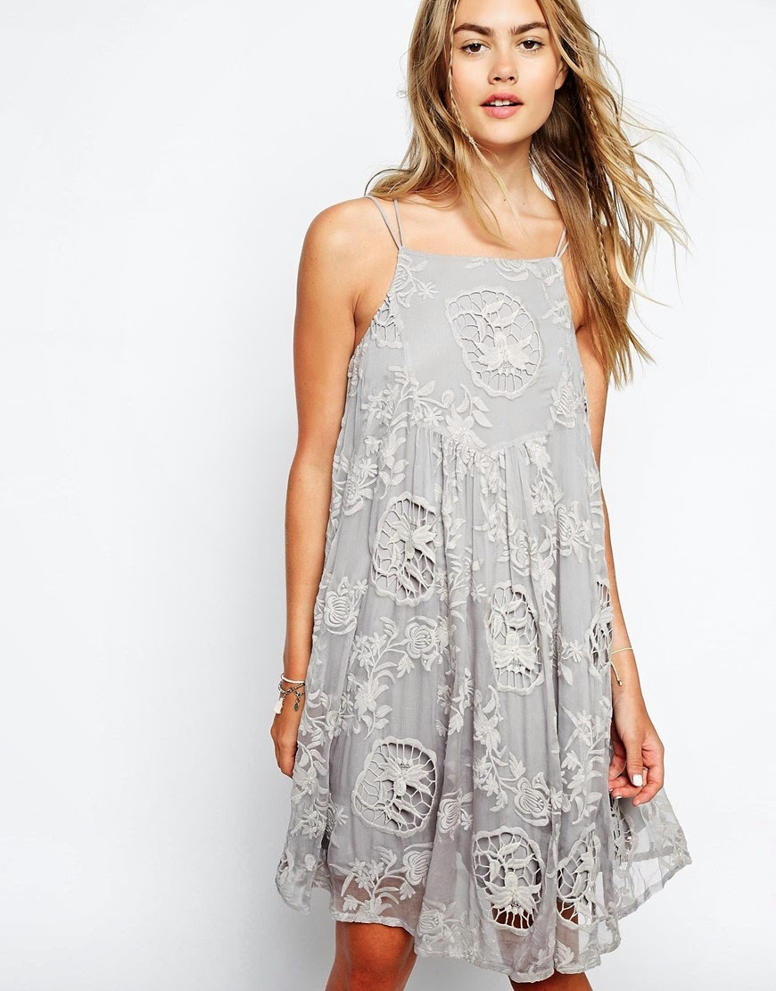 little white lies grey dress, grey embroidered dress,