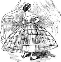 Miriñaque, traje varillas, cintura mujer