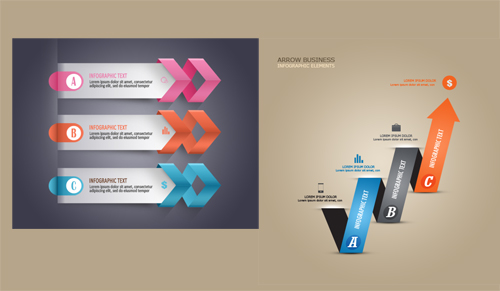 Free PSD Infographic Modern Business Arrows