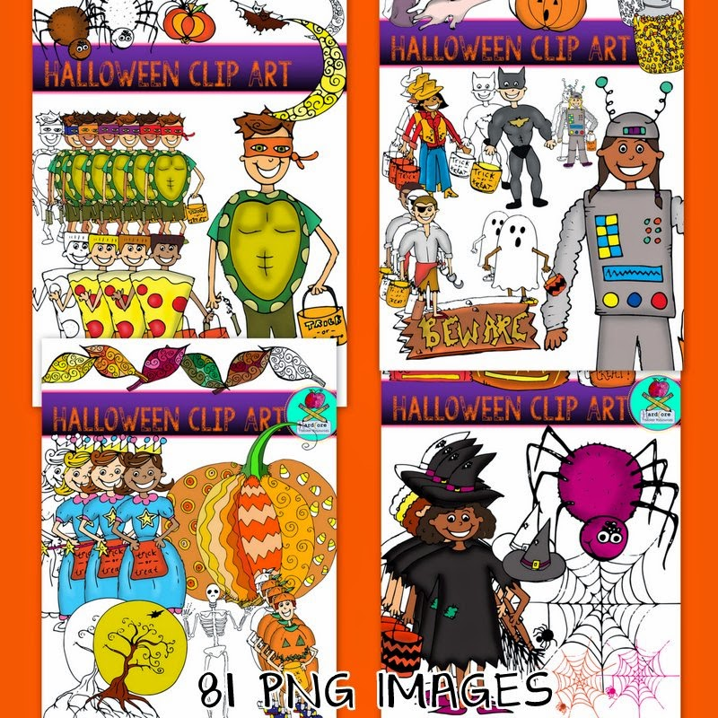 http://www.teacherspayteachers.com/Product/Halloween-Clip-Art-Ninja-Turtle-Witch-Trick-or-Treaters-Pumpkin-1409906