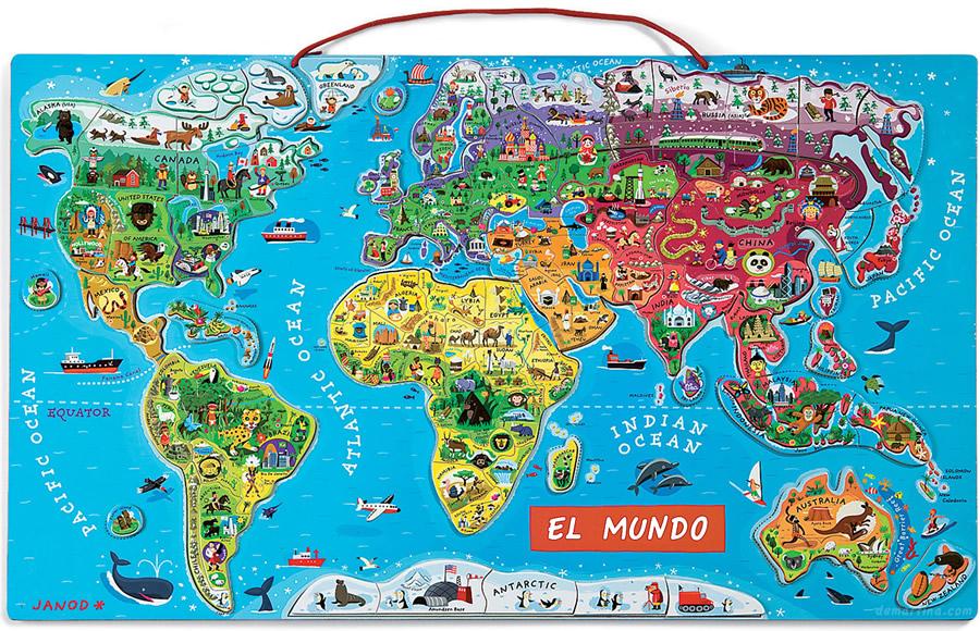 Cosquillas y purretes situ ndonos en el mundo for Mapa del mundo decoracion