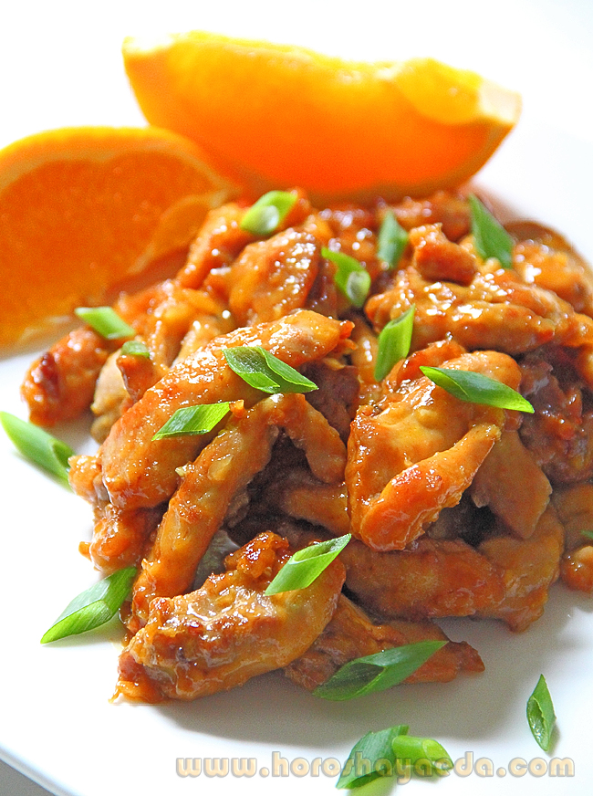 Курица, апельсиновая по-китайски  陈皮鸡