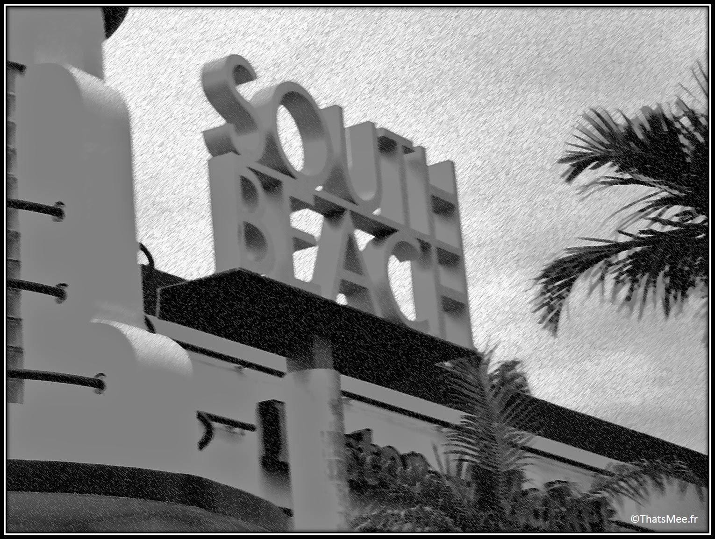 Floride south beach Miami panneau entrée de la ville