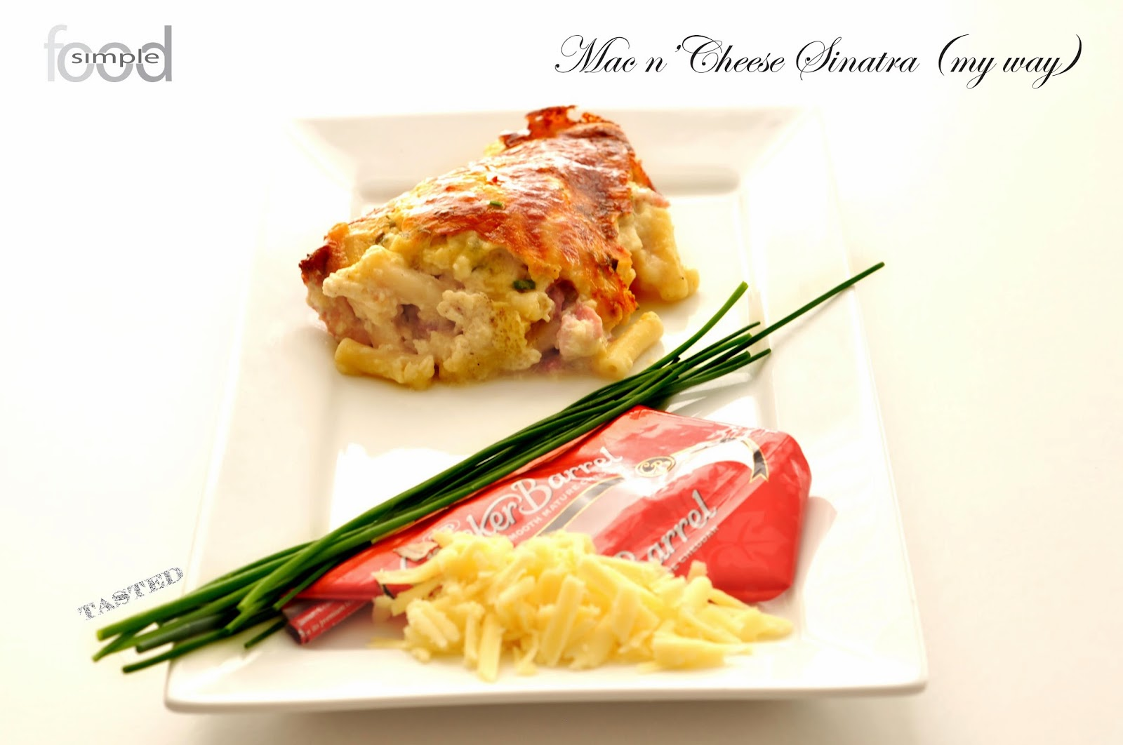 Cracker Barrel Macaroni Cheese with Bacon and Chives ~ Simple Food