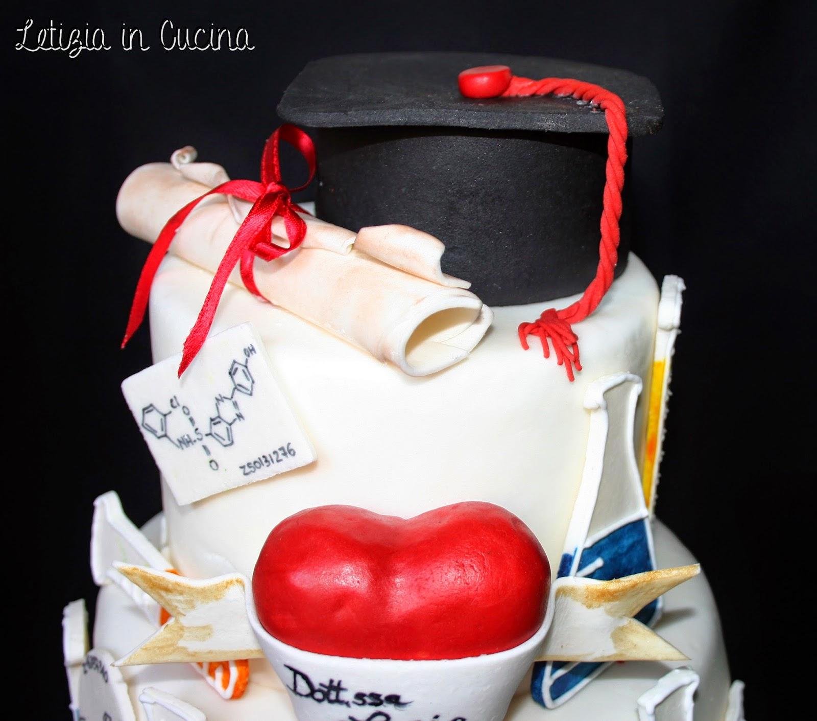 Letizia in cucina torta laurea lucia 2 for Decorazioni per torte di laurea