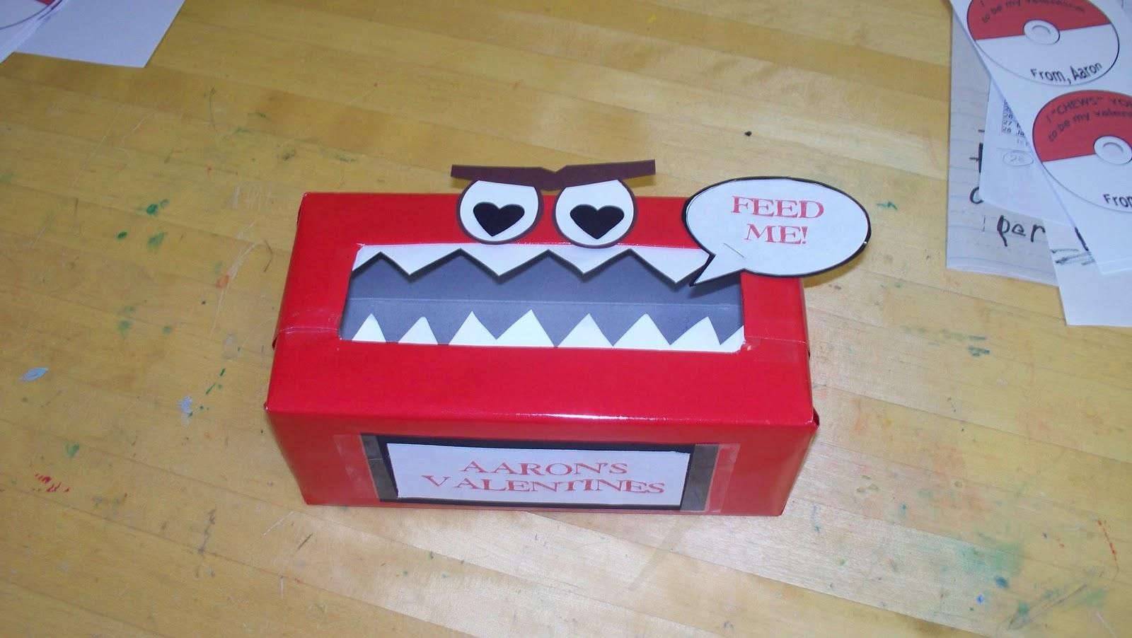 Gather supplies empty Kleenex box wrapping paper cardstock tape scissors glue stapler. & Make Do: Monster Valentine Box Aboutintivar.Com