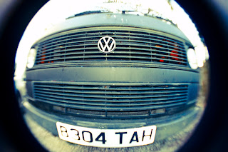 old skool vw rat look camper van