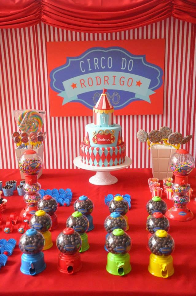 Decoração com o tema Circo