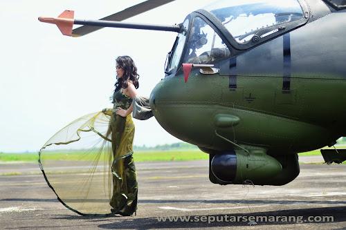Hunting Foto Dengan Nuansa Militer di Lanumad A Yani