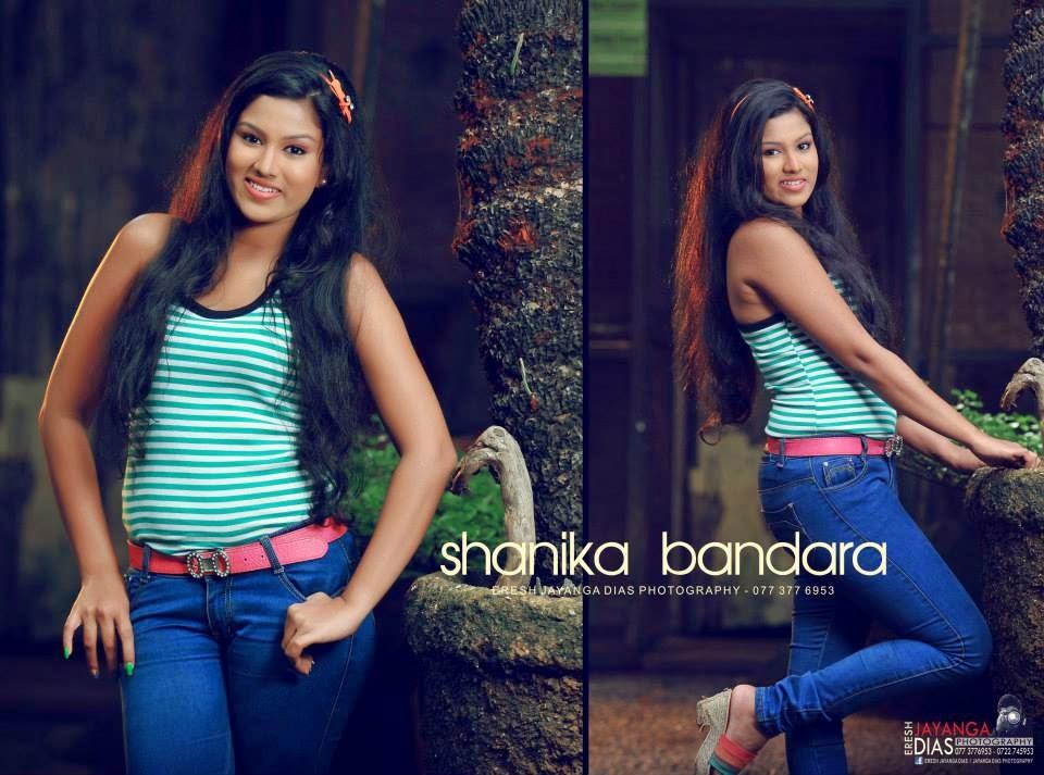 Shanika Bandara jeans blue