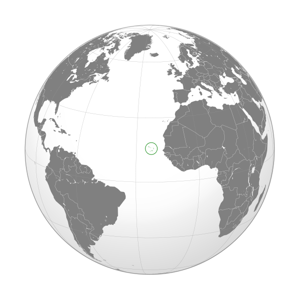 Globo Terráqueo Cabo Verde
