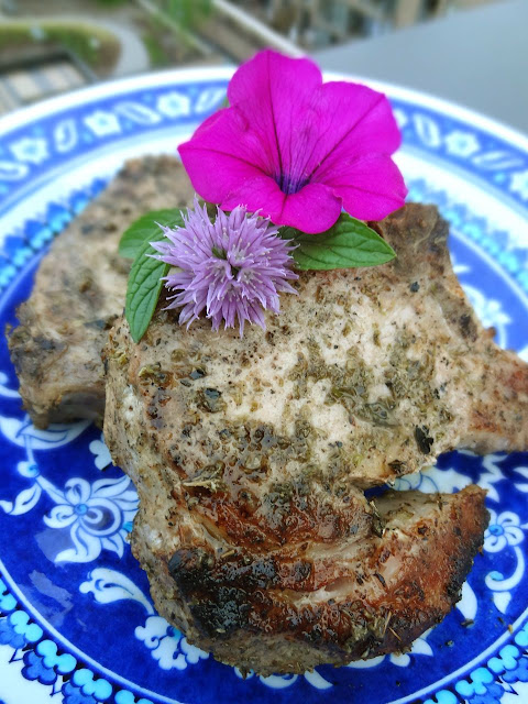 Scrumpdillyicious: Greek-Style Pork Rib Chops with Lemon & Oregano