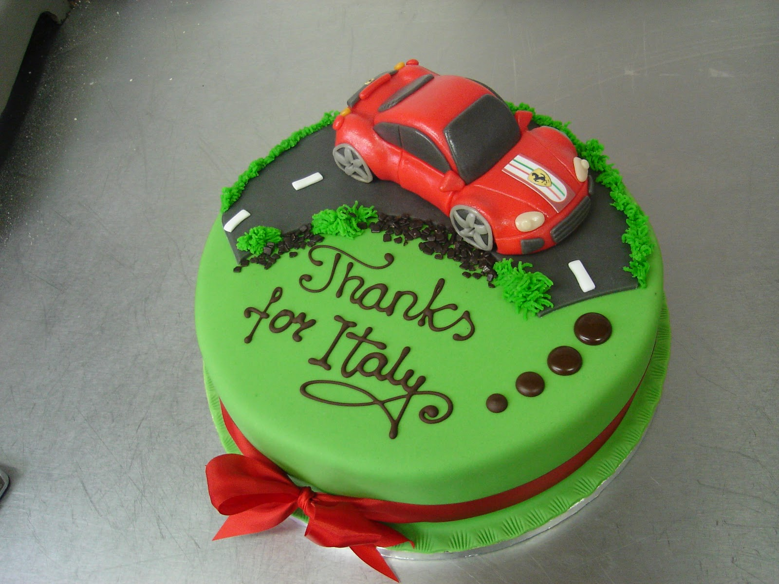 Red Ferrari Cake Images : The Family Cake Company Blog: Right off the Assembly Line ...