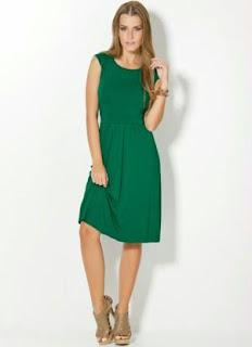 modelo de vestido de cetim verde - fotos e dicas
