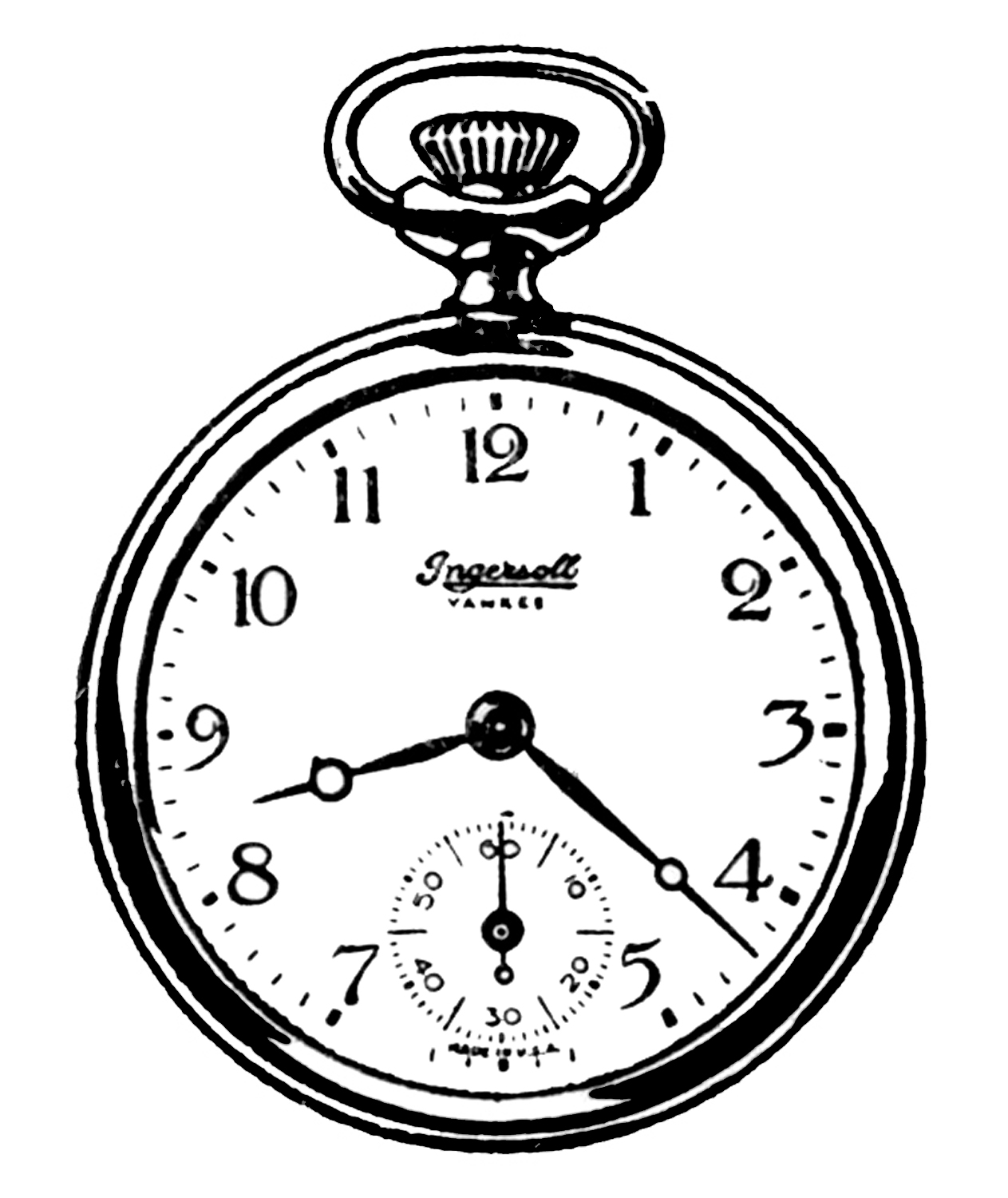 These are a couple of cute Pocket Watch Graphics from an early 1920's ...