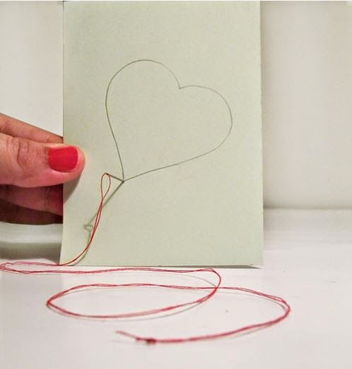 Diy embroidered heart greeting card the idea king