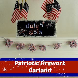 Patriotic Firework Garland