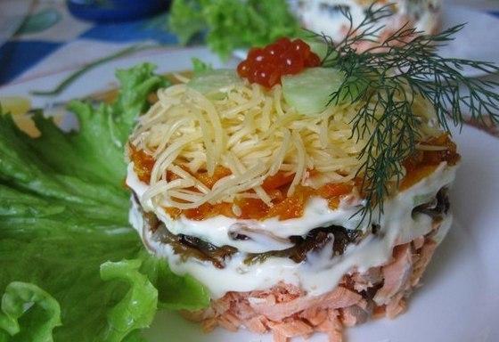 Салат из красной копченой рыбы рецепт с очень вкусный
