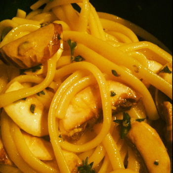 ... Good: Meatless Monday: Linguine with Lemon, Garlic and Thyme Mushrooms