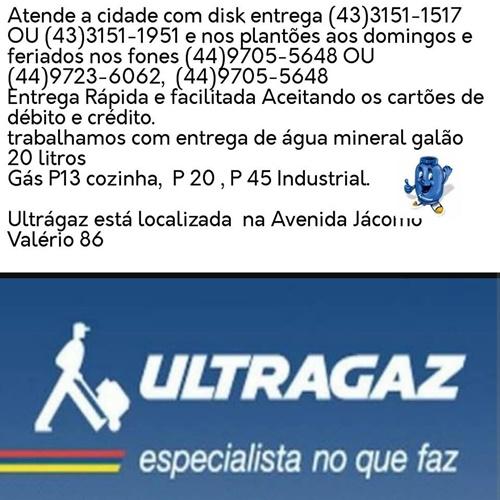 UltraGaz. seu gás acabou nao se preocupe, ligue agora mesmo nos telefones abaixo,