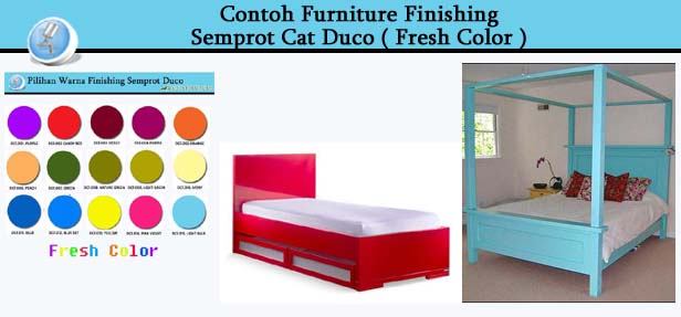 Contoh Furniture Cat Duco Warna