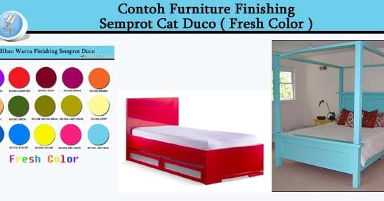 contoh furniture cat duco warna allia furniture