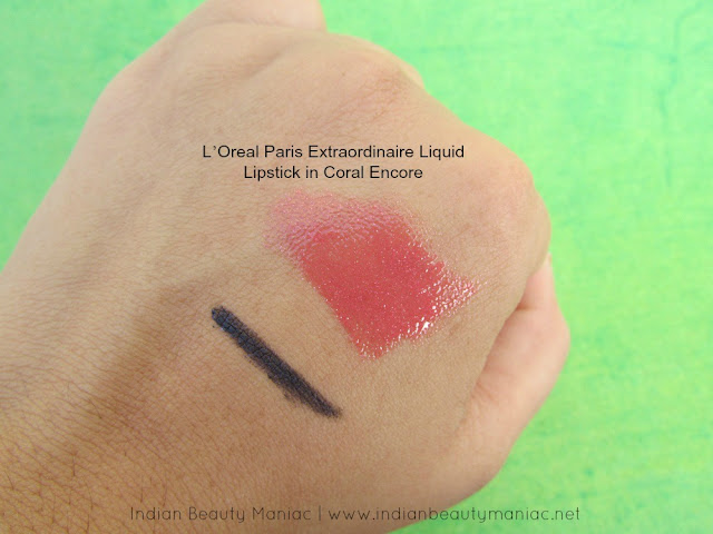 L'Oreal Paris Extraordinaire Liquid Lipstick in Coral Encore