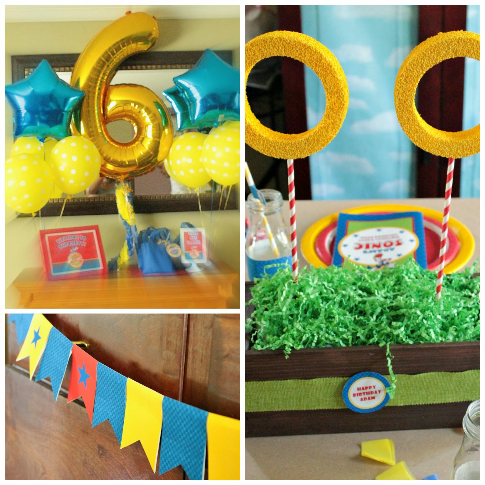 sonic the hedgehog party decor, sonic the hedgehog party supplies, sonic the hedgehog parties