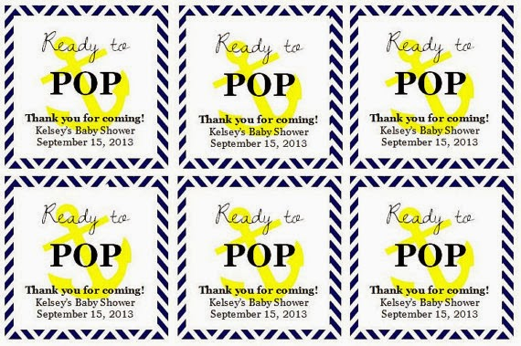 From the ash tree meadow navy and yellow nautical baby shower for Ready to pop labels template free