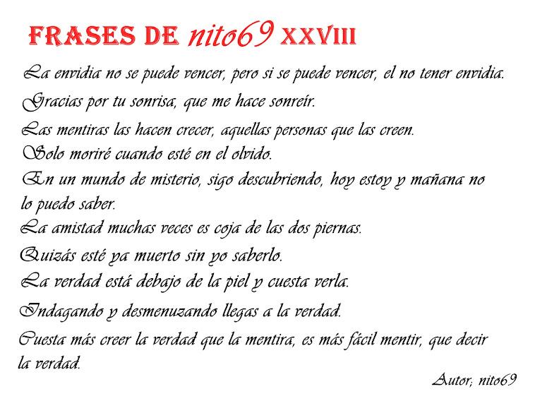 FRASES DE nito69 XXVIII