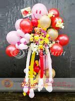 rangkaian balon dan bunga, bunga balon ulang tahun, toko bunga di jakarta, karangan bunga balon