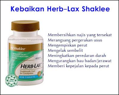 Kebaikan Herb-Lax Shaklee